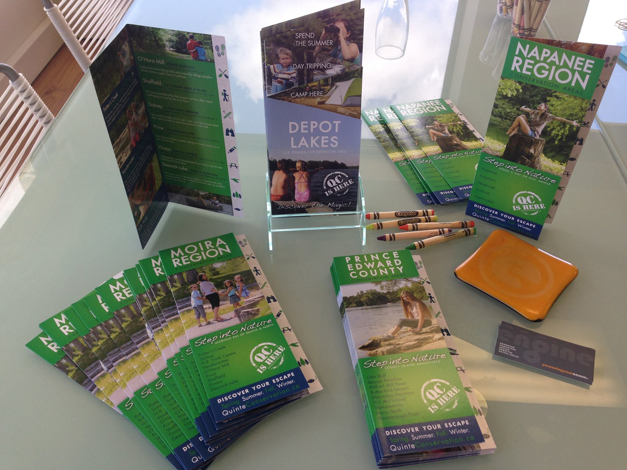 With so many options at Tourist rack card displays, we wanted to stand out above the crowd!